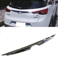 KOUVI ABS chrome plastic rear Tailgate trunk lid cover trim accessories for 2015 2016 2017 2018 Mazda CX 3 CX 3 CX3