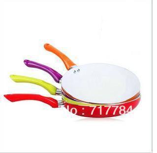 26cm Ceramic Pan Non-stick Coating Aluminum Fry Pan,4 colors cookware,FDA,LFGB Certification  Free Shipping!