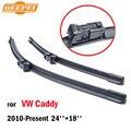 Limpadores de para vw caddy qeepei 2010-presente 24 ''+ 18'' acessórios do carro para auto rubber windshield wiper blade preços cpc105-7