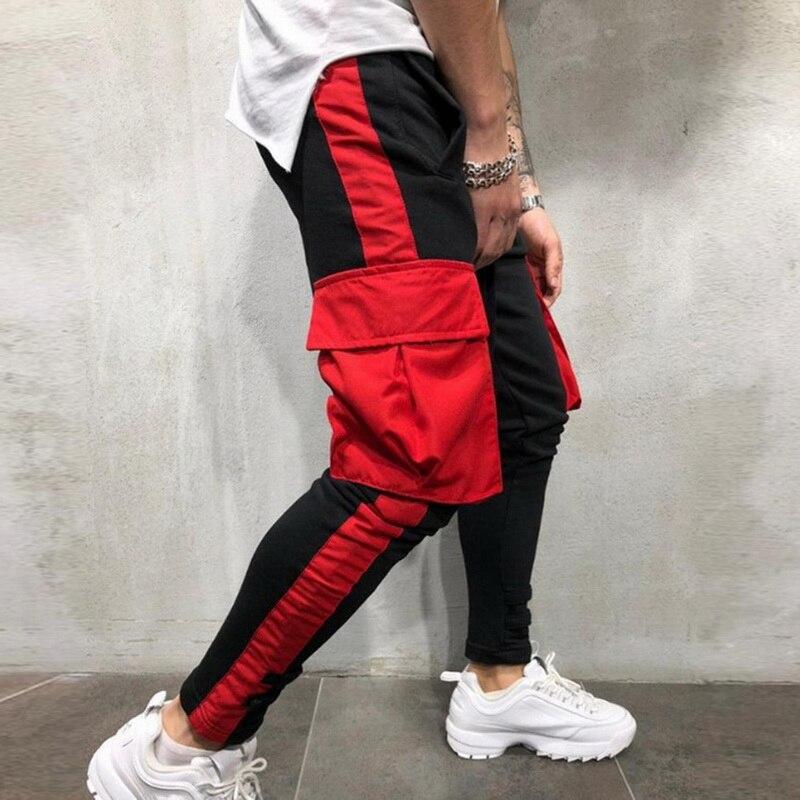 2019 Neue Hip Hop Männer Laufhose Mode Große Tasche Track Hosen Straße Tragen Hosen Herren Sportwear Gymwear Jogginghose Casual Eine Hohe Bewunderung Gewinnen Tennis