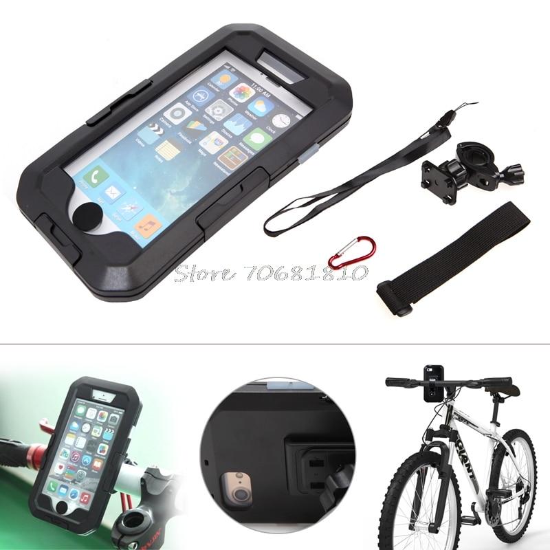 bilder für Outdoor Fahrrad Motorrad Bike Halterung Wasserdichtes Gehäuse Für iPhone7/7 Plus # R179T # tropfenverschiffen