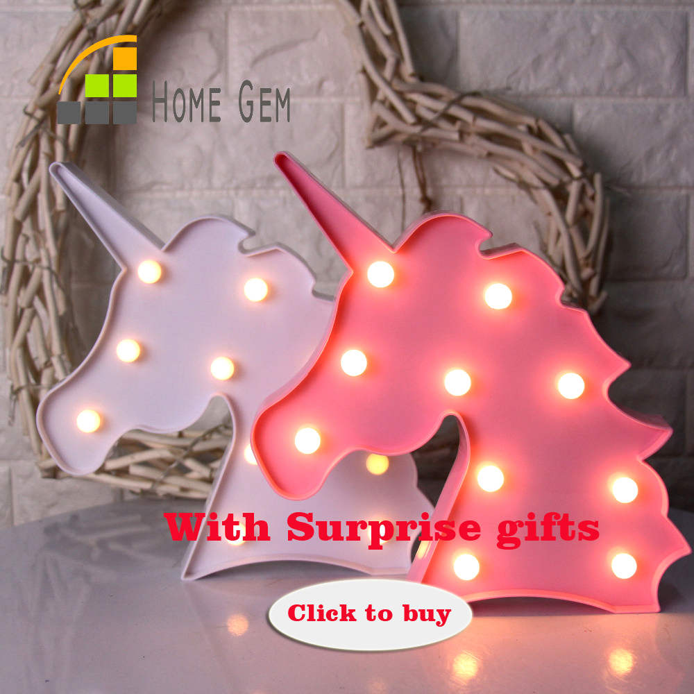 12inch LED Plastic Unicorn Shape Marquee Sign Indoor Room Des