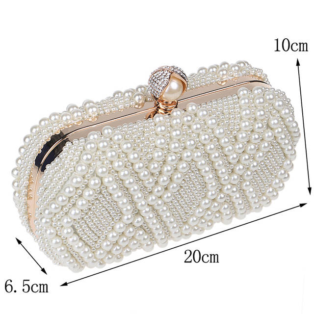 placeholder Wedding Purse Embroidery Handmade Pearl Handbags Rhinestones Beaded  Wedding Bags Small Day Clutches Night Club Evening a9e4acdc1bae