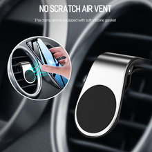 Magnetic Car Phone Holder L-Type Air Vent Mobile in For iPhone XR XS X Samsung Xiaomi Stand