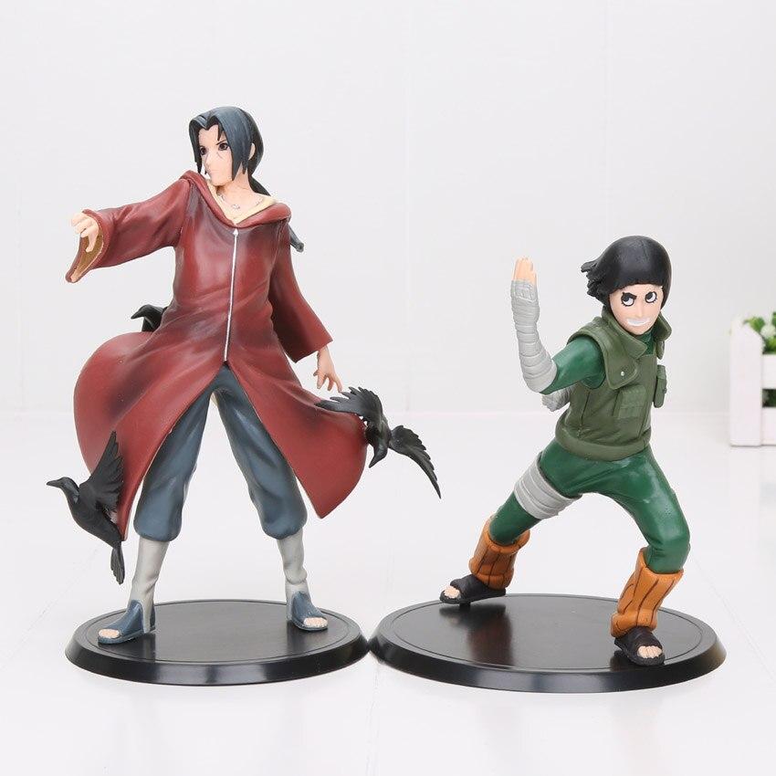 14-19cm Naruto 17 Edition 2pcs/set Action Figures Rock Lee & Uchiha Itachi Doll PVC figure Toys naruto rock lee