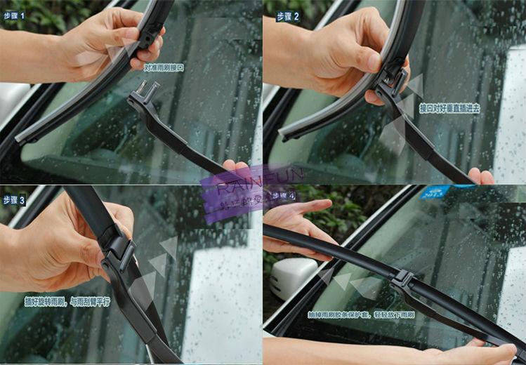 """RAINFUN S560 2""""+ 26"""" Специальный автомобиль стеклоочистителя для PORSCHE CAYENNE(07-), автоматический стеклоочиститель с натуральным каучуком, 2 шт в партии"""