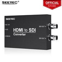 Seetec HTS HDMI to SDI конвертер для трансляции HDMI конвертер жесткий металлический корпус черный Мини Размер дизайн легко носить с собой