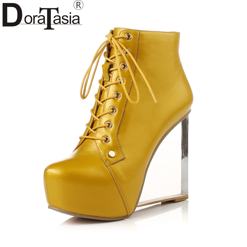 DoraTasia 2018 large size 33-41 genuine leather brand shoes women sexy high heels ankle boots party shoes nightclub footwear doratasia 2018 large size 33 41 genuine leather brand shoes women sexy thin high heels ankle boots party shoes lady footwear