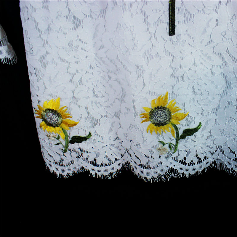 2017 Літо білий мереживо bling троянда - Дитячий одяг - фото 3