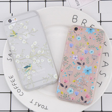 Heart Camera Window Phone Case For iphone 7 Case Colorful Flower Lovely Bird Pattern TPU Cover For iphone 7 6 6S 8 Plus case