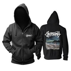 Image 2 - 5 designs cryptopsy Rock Brand Nice Soft Warm zipper hoodies Sweatshirt death metal sudadera shell jacket fleece Outerwear