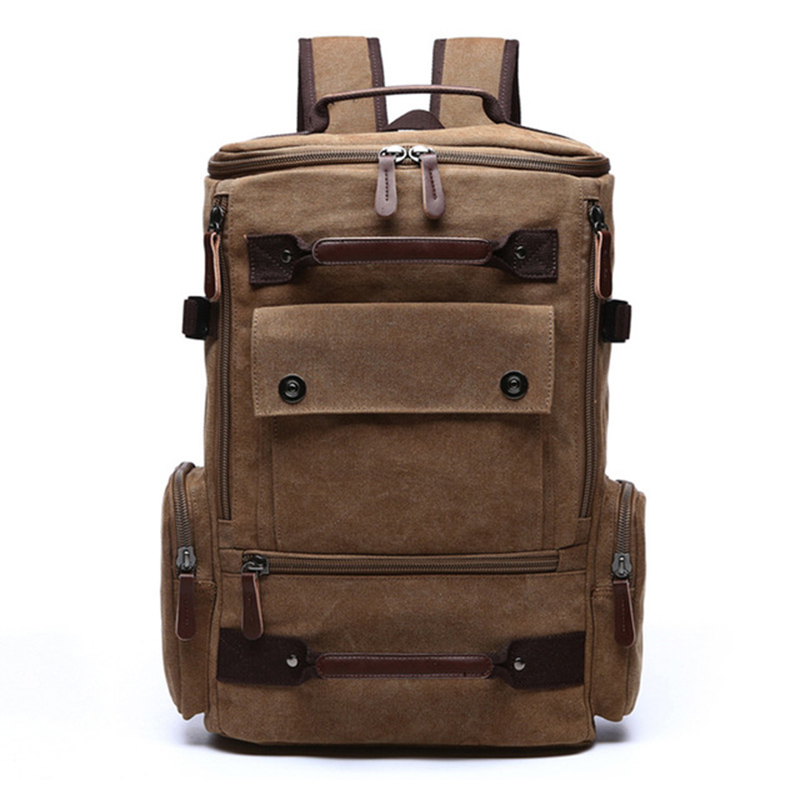 Image 2 - mens backpack vintage canvas backpack school bag mens travel  bags large capacity backpack  laptop backpack bag high qualitBackpacks