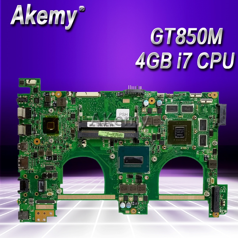 Akemy I7-4700HQ GTX850M 4GB N550JK Laptop Motherboard For ASUS N550J N550JK N550JV Q550JV Mainboard N550JX Motherboard