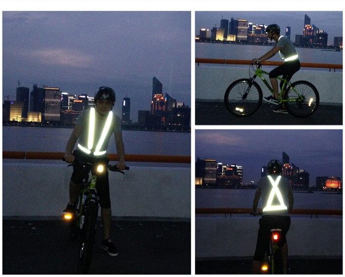 Reflekterande Rem Flexibelt reflektorväststödmotorcykel Ridning med - Motorcykel tillbehör och delar - Foto 5