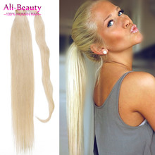 Clip in Ponytail Human font b Hair b font Remy Pure Color font b Virgin b