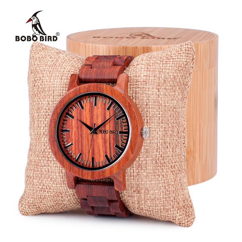 0994046eed7 BOBO PÁSSARO Antique Design Exclusivo Dos Homens Vestido de Relógios de  Quartzo com Todos da Banda de Madeira de Sândalo Vermelho em Caixa de  Presente ...