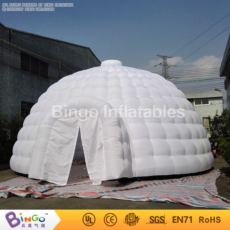 Outdoor inflatable dome igloo marquee tent in White color for party/events/advertising/rental toy tent 2016 outdoor inflatable igloo tent white inflatable shell tent inflatable air dome bingo factory direct sale bg a1191 toy tent