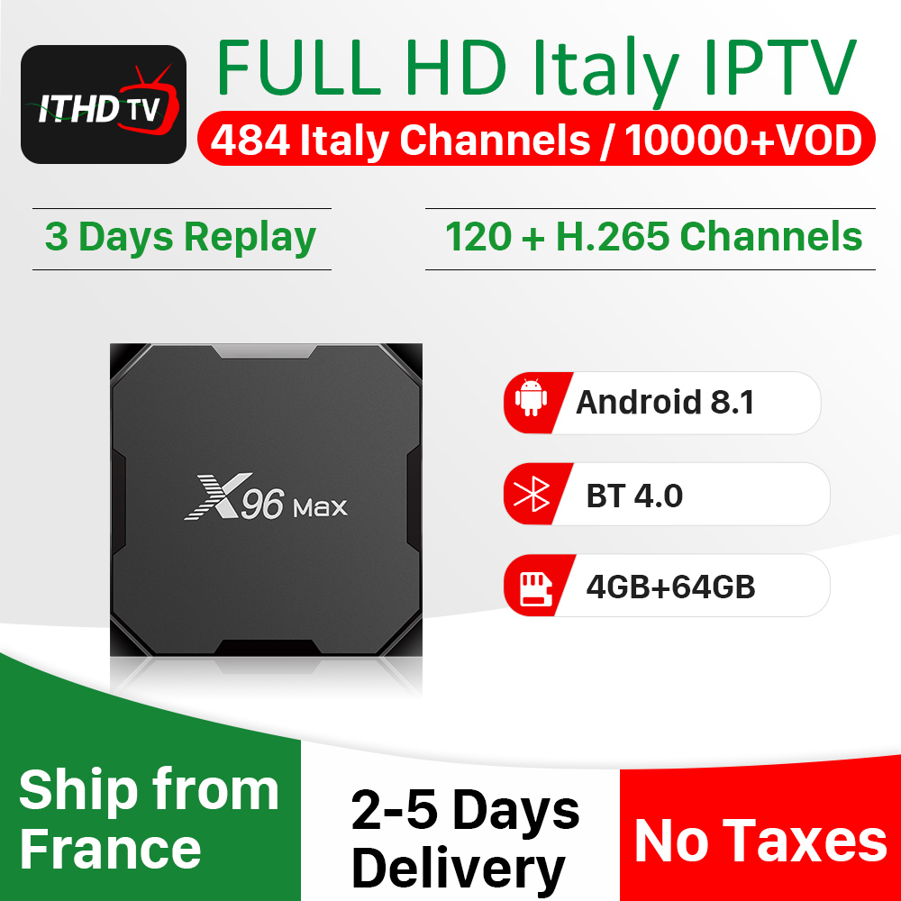 Italy IPTV Turkey Spain IPTV X96 Max IP TV Turkey Africa Portugal IPTV Subscription Qatar Belgium Germany IP TV Arabic Italian-in Set-top Boxes from Consumer Electronics