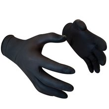 50 pcs/lot Nitrile Gloves Black Extra Strong Latex Gloves Medical Exam Powder Free Nitrile Gloves Electronics, Food,Beauty
