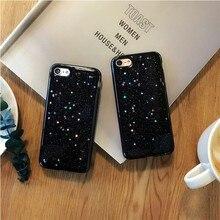 Новая звезда черный блеск телефон чехол для iPhone 7 7 плюс блеск Чехол для iPhone 6 6S 6 plus 6S Plus Мягкие TPU Капа Coque