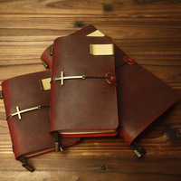 100 Genuine Cow Leather Cover Traveler S Notebook Diary Journal Vintage Handmade Cute Travel Note Book