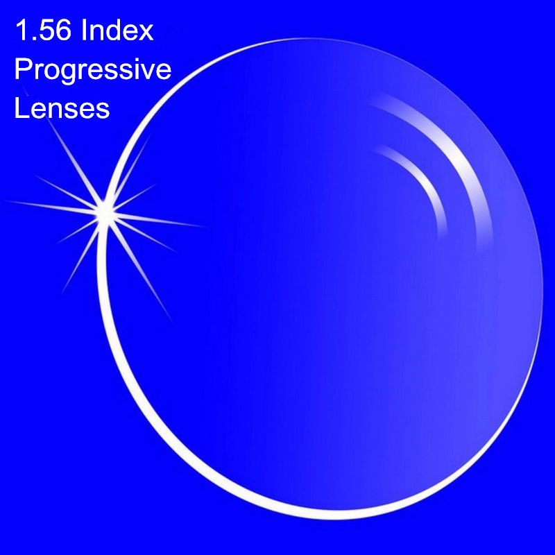 1.56 Index Prescription Progressive Lenses Free Form Multi Focal Lens without line for Myopia/Hyperopia Inner Progressive Lenses