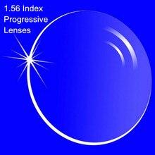 1.56 ดัชนี Prescription Progressive เลนส์ฟรีรูปแบบ Multi Focal เลนส์ไม่มีสำหรับสายตาสั้น/สายตายาวภายใน Progressive เลนส์