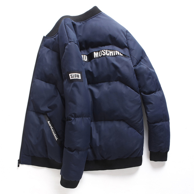 Best Offers 2019 Winter Men's Cotton Jacket, Fashion Youth Thicken Warm Jacket, bigger size Letter Stand Collar Casual Parkas