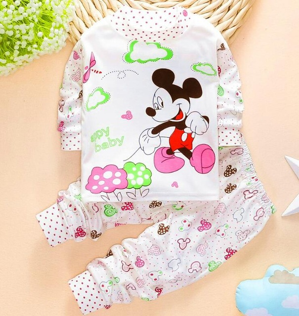 high quality baby clothes cotton 100% baby girl clothes baby boy clothes baby set Kids clothing 2 pcs