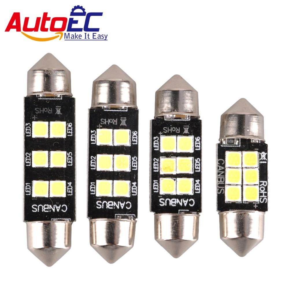 AutoEC 4ks Festoon led 3w c5w canbus chyba 31mm 36mm 39mm 41mm dome panel světlo 12v 24v čistě bílá # LK137