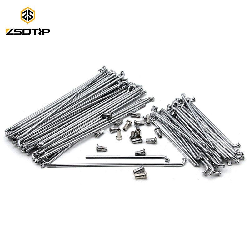 ZSDTRP 40pcs Ural CJ K750 Motor Front and Rear Stainless Steel Rim Wheel Spokes Kit Set