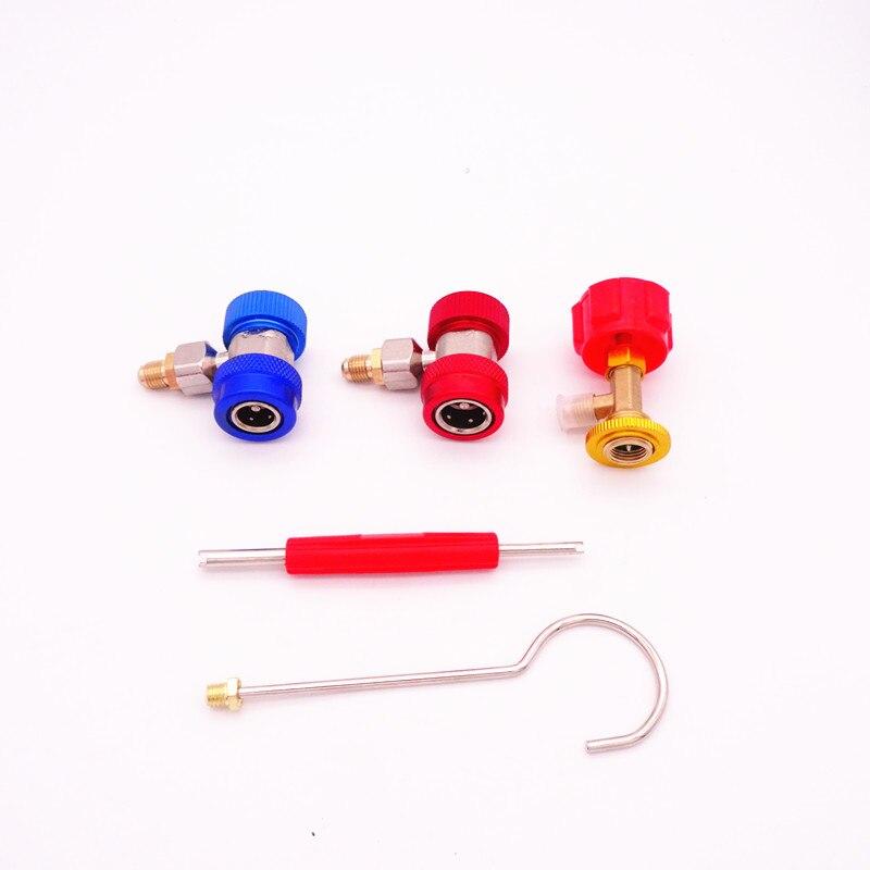 Image 5 - Блок охладителя с вентиляторами набор коллекторов с манометром инструменты для технического обслуживания R134A автомобильный набор с чехлом для переноски AC диагностический хладагент