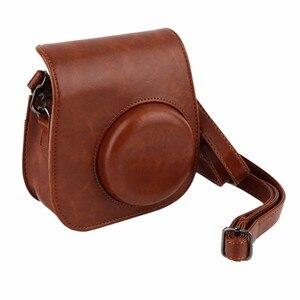 Camera Strap Bag Case Cover Pouch Protector For Polaroid Photo Camera For Fuji Fujifilm Instax Mini 8 Leather Case Camera Bag