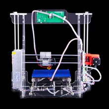 P802M Large Printing Size Transparent Acrylic LCD Screen HD Display 3D Printer Support 8 G Secure Digital Memory Card EU Plug