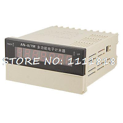 AN8/7M Multi Function Meter Time Counter Relay AC 220V