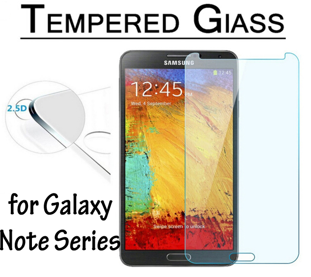 9H Hardness Tempered Glass Film for Samsung Galaxy Note3 Neo LTE Screen Protector for Galaxy Note 2 3 4 5 Verre Trempe 2.5D edge