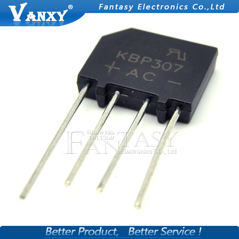 20PCS KBP307 KBP 307 3A 700V Flat Bridge Bridge Rectifier New And Original IC