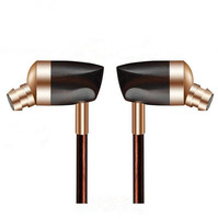 2015 Newest Dynamic And Armature 2 Unit Wood Headphones HIFI Ebony Moving Iron Coil In Ear
