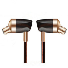 Newest BOSSHIFI B3 Dynamic and Armature 2 unit Wood Earbuds HIFI Ebony Moving Iron&Coil  In Ear Earphone DIY Wooden Headset