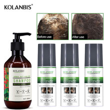 4pc oily growth bald spray  tonic and ginseng hair loss regrowth shampoo for alopecia men fast follicle treatment essential oils