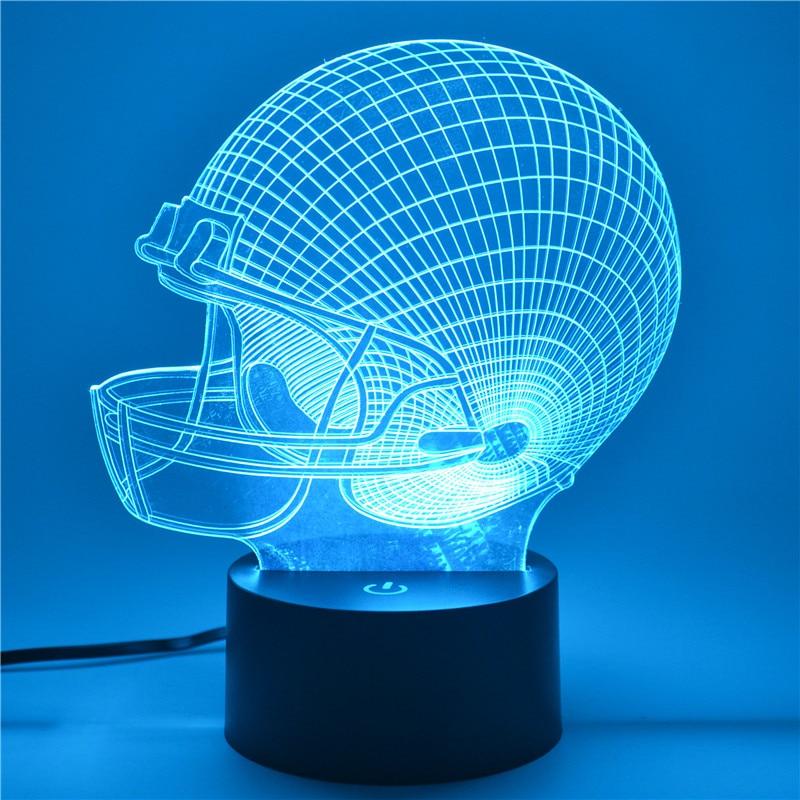 AUCD 3D Tafellamp Rugby Cap-logo Kinderkind Kerstcadeau - Nachtlampje - Foto 4