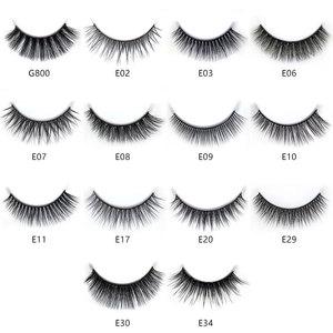 Image 3 - NEW 50 boxes 3D Mink Hair Natural Cross False Eyelashes Long Messy Makeup Fake Eye Lashes Extension Make Up Beauty Tools