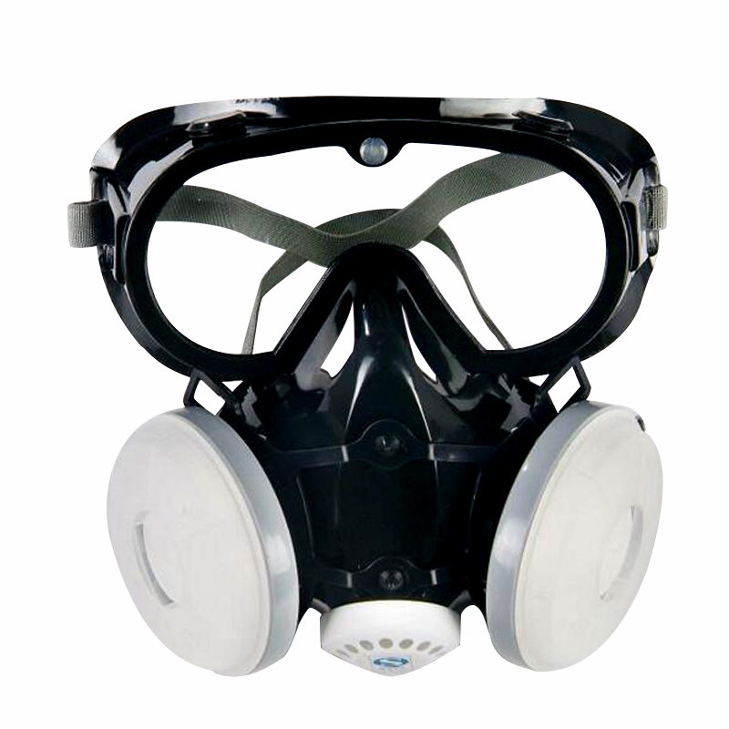 Dust mask Half Face Mask Respirator with Goggles Three Non-woven Material Application to Dust Industry 9600C 3m 6300 6003 half facepiece reusable respirator organic mask acid face mask organic vapor acid gas respirator lt091