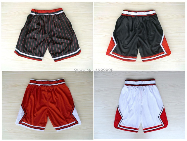 8eca526310892b Chicago Derrick Rose Michael Jordan Basketball Shorts Embroidery Logos  white red black Stripe Colors Mesh Shorts Free Shipping