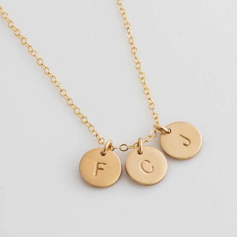 DIY Tiny złoty naszyjnik z inicjałami złoty srebrny naszyjnik listowy inicjały nazwa naszyjniki wisiorek dla kobiet dziewczyn najlepszy prezent urodzinowy