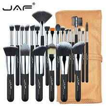JAF 24pcs Professional Make Up Brushes With Bag Powder Eye  Brushes Full Function Studio Synthetic Hair Cosmetic Tool Kit 25#701 fashion 24pcs pink soft nylon hair make up brushes with leather bag