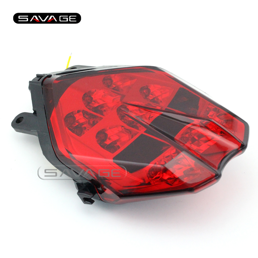 ФОТО For Triumph Daytona 675/R / Speed Triple 675 2013-2016 Motorcycle Integrated LED Tail Light Turn signal Blinker Lamp Red