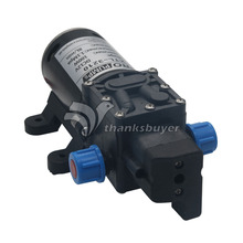 Water Pump DC 12V 100W 8Lpm Diaphragm High Pressure for Wash Car Boat Marine