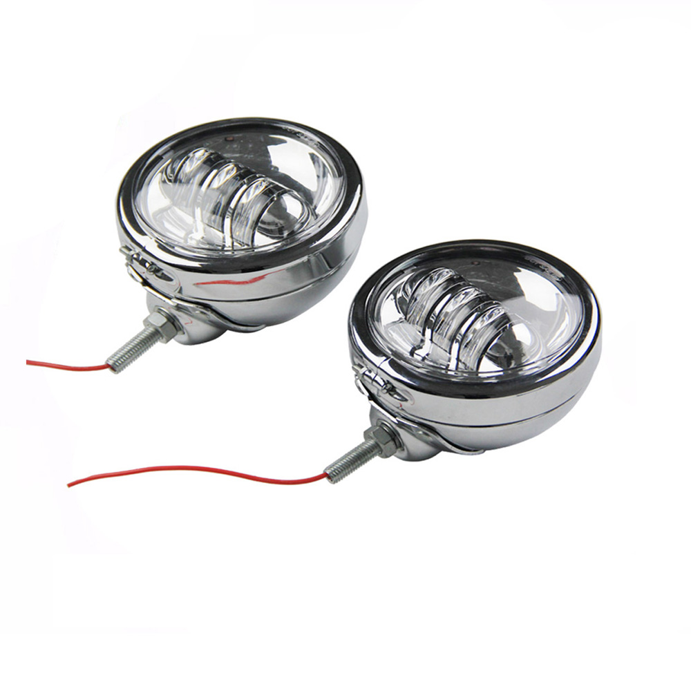 VOSICKY  4.5 inch LED Auxiliary Fog Passing Lights with Ring Mount Bracket for Harley Touring Softail Electra Glide Daymaker 4pcs set 7 daymaker projector led headlamp 4 5inch auxiliary motorcycle led fog light for harley touring softail trike flhtcuse