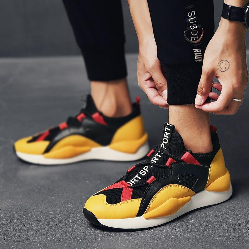 Chaussures Tendance Yellow black D'été Hommes Sauvage white bas Coréenne Respirant Coupe De Black Black Décontractées Sq7qfxPt5